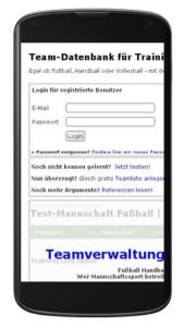 Teamverwaltung mobil optimiert?