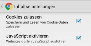 Cookies zulassen in Chrome