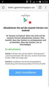 Screenshot Fehlermeldung gpamazingapps.xyz