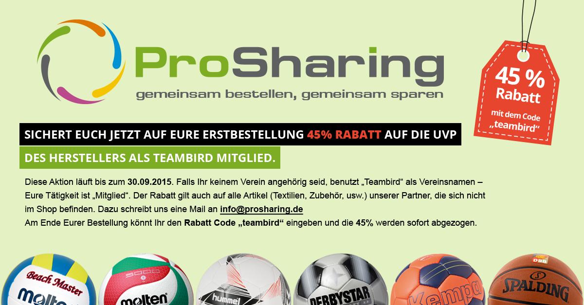 ProSharing: gemeinsam bestellen, gemeinsam sparen