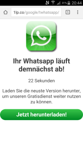 Whatsapp Download Spam